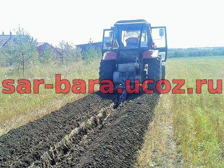 траншея на землях сельхозназначения